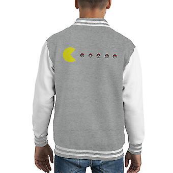 Pacman Pokeball Pokemon Kid's Varsity Jacket
