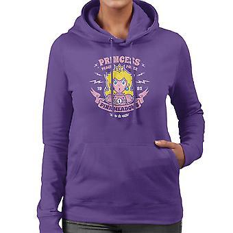 Prinzessin Peach macht Mario Kart Damen Sweatshirt mit Kapuze