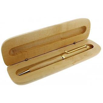 Gift Time Products Golf Club Clip Ballpoint Pen and Box - Light Brown/Gold