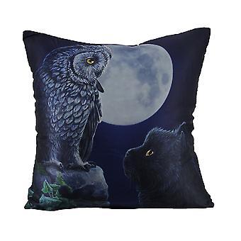 Lisa Parker Purrfect Weisheit Satin Gothic Throw Pillow