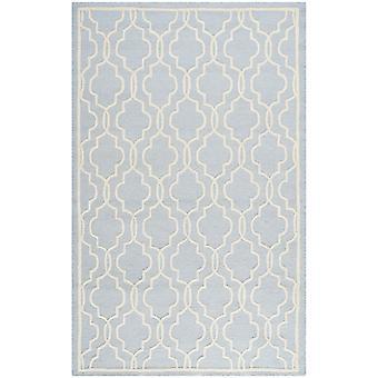 Elle Duck æg blå geometriske uld tæppe - Safavieh