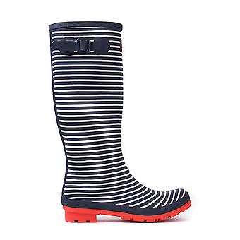 Wellyprint Mini Stripe Wellington Stiefel für Damen - Marine