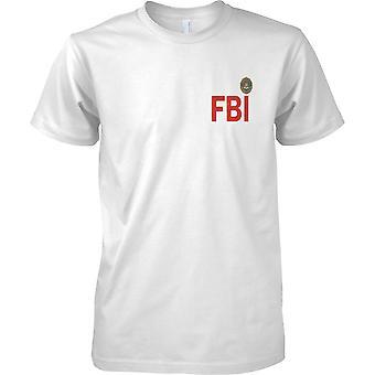 Logotipo del FBI Insignia - Efecto Grunge - Camiseta de diseño de pecho para hombre