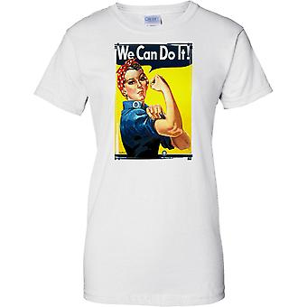 We Can Do It - WW2 Propaganda - Allied World War - Ladies T Shirt