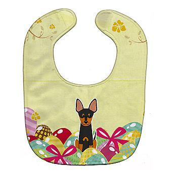 Carolines Treasures  BB6109BIB Easter Eggs English Toy Terrier Baby Bib