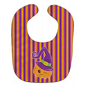 Carolines Treasures  BB6967BIB Halloween Pumpkin Witch Baby Bib