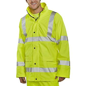 B-Dri Hi Vis Waterproof, Breathable & Lined Hooded Jacket En471  - Pul