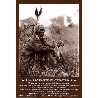 Die zehn Gebote der indischen Poster Print von Joe Viesti Assoc (24 x 36)