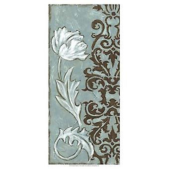 Floral and Damask I Poster Print by Chariklia Zarris (13 x 19)
