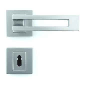 Premium-Qualität M4TEC ZA6 Innentür Griff – aus Zinkdruckguss-Glanz verchromt beenden – robuste, langlebige & einfach zu installieren – elegante & edel Design - Ideal für Zimmer-Haustüren
