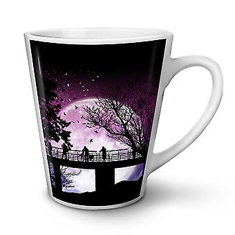 Moon Silhouette Nature NEW White Tea Coffee Ceramic Latte Mug 17 oz | Wellcoda