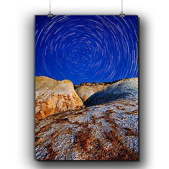 Matte or Glossy Poster with Spiral Star Wild Nature | Wellcoda | *q292