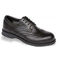 V12 VC100 Diplomat Black Executive Brogue Shoe EN20345:2011-S1 Size 8