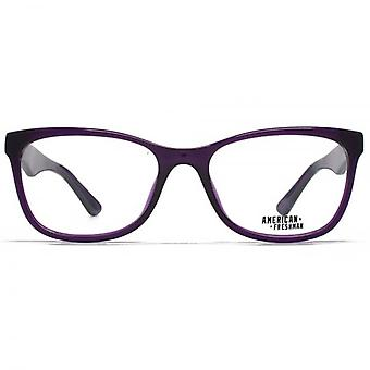 American Freshman Faith Retro Cateye Glasses In Crystal Purple