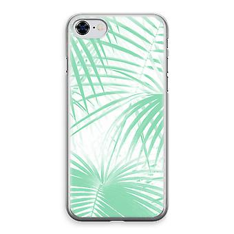 iPhone 8 Transparant Case - Palm leaves
