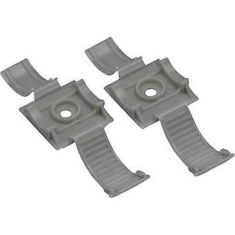 Cable mount Screw fixing + strap Grey Panduit