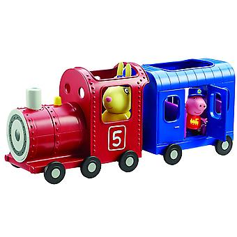 Peppa Pig señorita conejos tren y carro de juguete