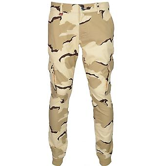 Franklin & Marshall Mf141 Cunningham Skinny Fit Stretch Desert Camo Chino