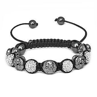 Unisex Bling Beads Bracelet - ICED SKULL