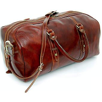Genuine Italian Leather Holdall Cabin Bag Overnight Weekend Case Duffel Hand Luggage
