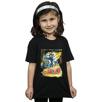 Disney Girls Big Hero 6 Fred Anime Poster T-Shirt
