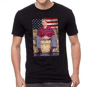 Married With Children Presidential Sofa Men's Black T-shirt