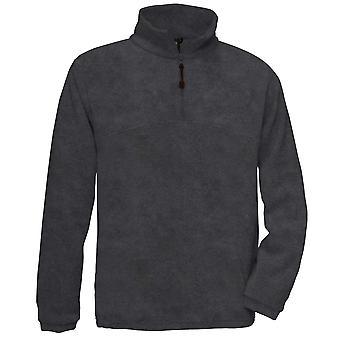 B&C Mens Highlander Outdoor Raw Warm Pullover Fleece Jacket with 1/4 zip
