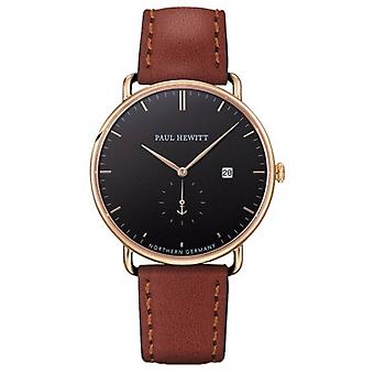 Paul Hewitt Grand Atlantic Line Quartz Watch - Brown/Black/Rose Gold
