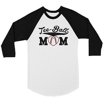 Tee-Ball Mom Womens Baseball Tee