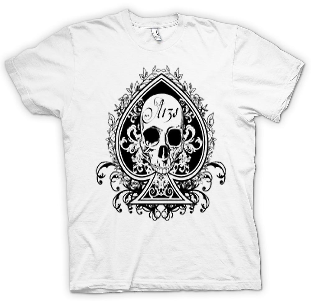 Mens T-shirt - Skull Us Biker Ace Of Spades
