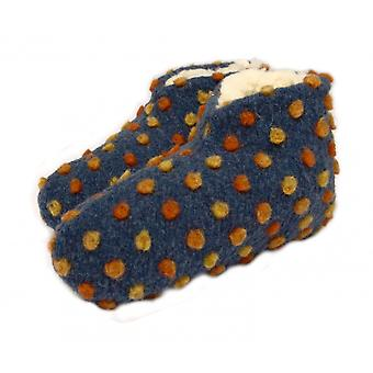 Bed shoes wool dots blue 40/41