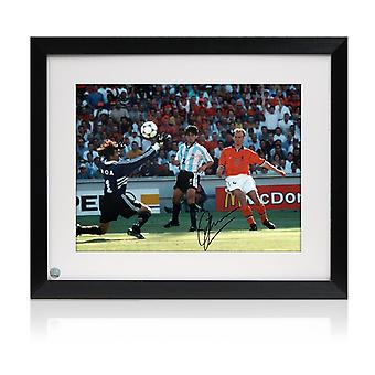 Framed Dennis Bergkamp Signed Holland Photo: The Argentina Goal