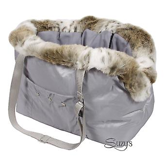 Cupido Luxury Dog / Pet Carrier Bag Grey