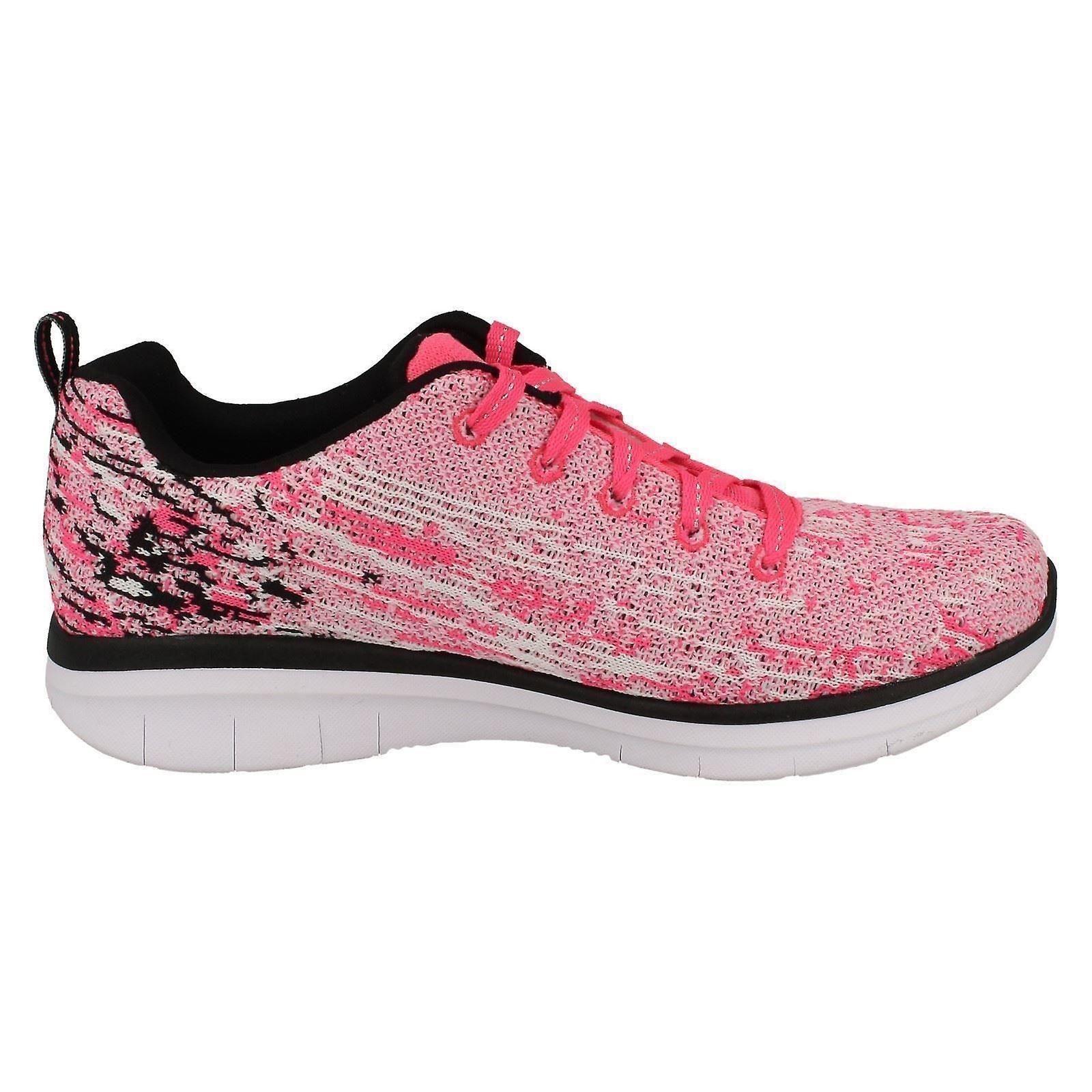 Spirits Pinkblack Trainers 9 High Sports 5 10 81620 27 Us 5 Uk Size Skechers Neon Girls Textile Eu rdCshtQ