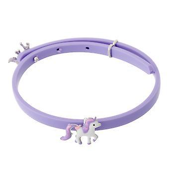 Orphelia Silver 925 barna armbånd gummi med hest justerbar ZA-7156/LILA