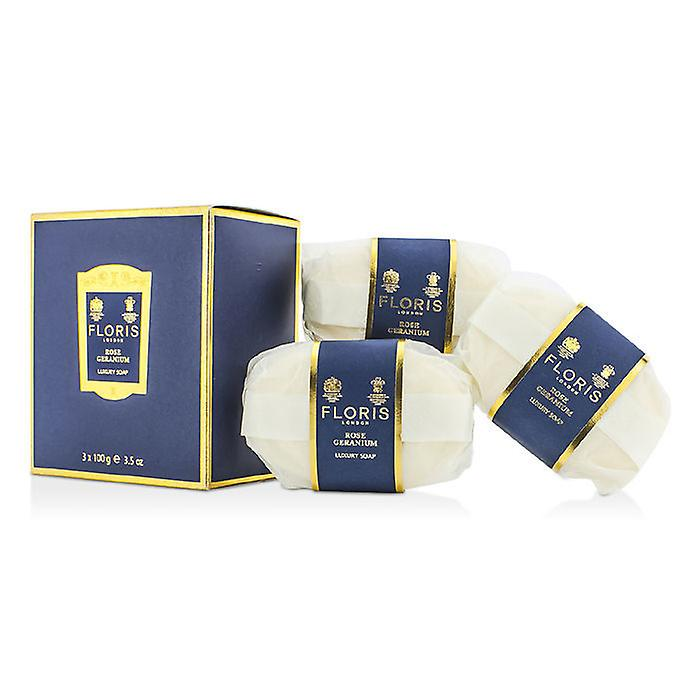 Floris Rose Geranium Luxury Soap 3x100g/3.5oz