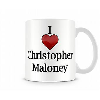 Chris Maloney imprimé J'aime la tasse