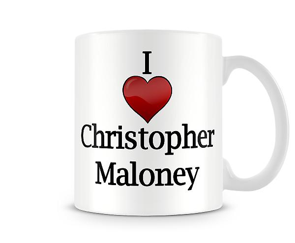 Chris Maloney imprimé J'aime la tasse