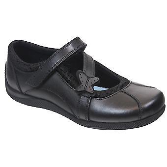 Term Girls Zara School Shoes Black Leather