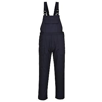 Portwest - Bizweld Flame Resistant Safety Workwear Bib and Brace Dungarees