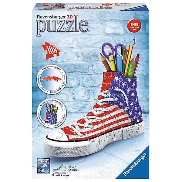 Union Jack Wear USA Flag Jig Saw 3D