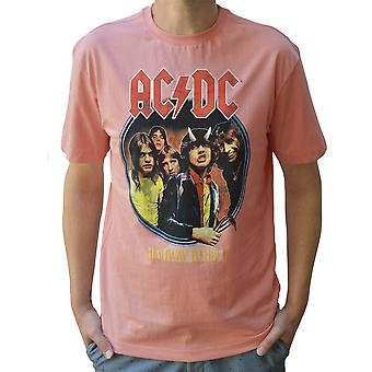 Amplified AC/DC Highway To Hell Mellow Rose Crew Neck T-Shirt M