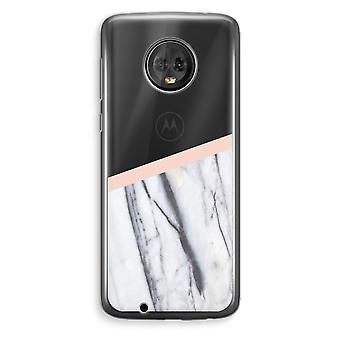 Motorola Moto G6 Plus Transparent Case (Soft) - A touch of peach