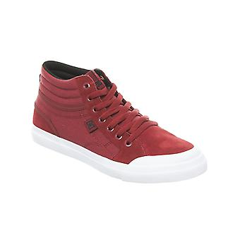 DC Evan Smith Deep Red Collaboration Kids Hi Top Shoe