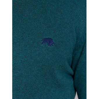 V-Neck Cotton Cashmere Sweater – Petrol