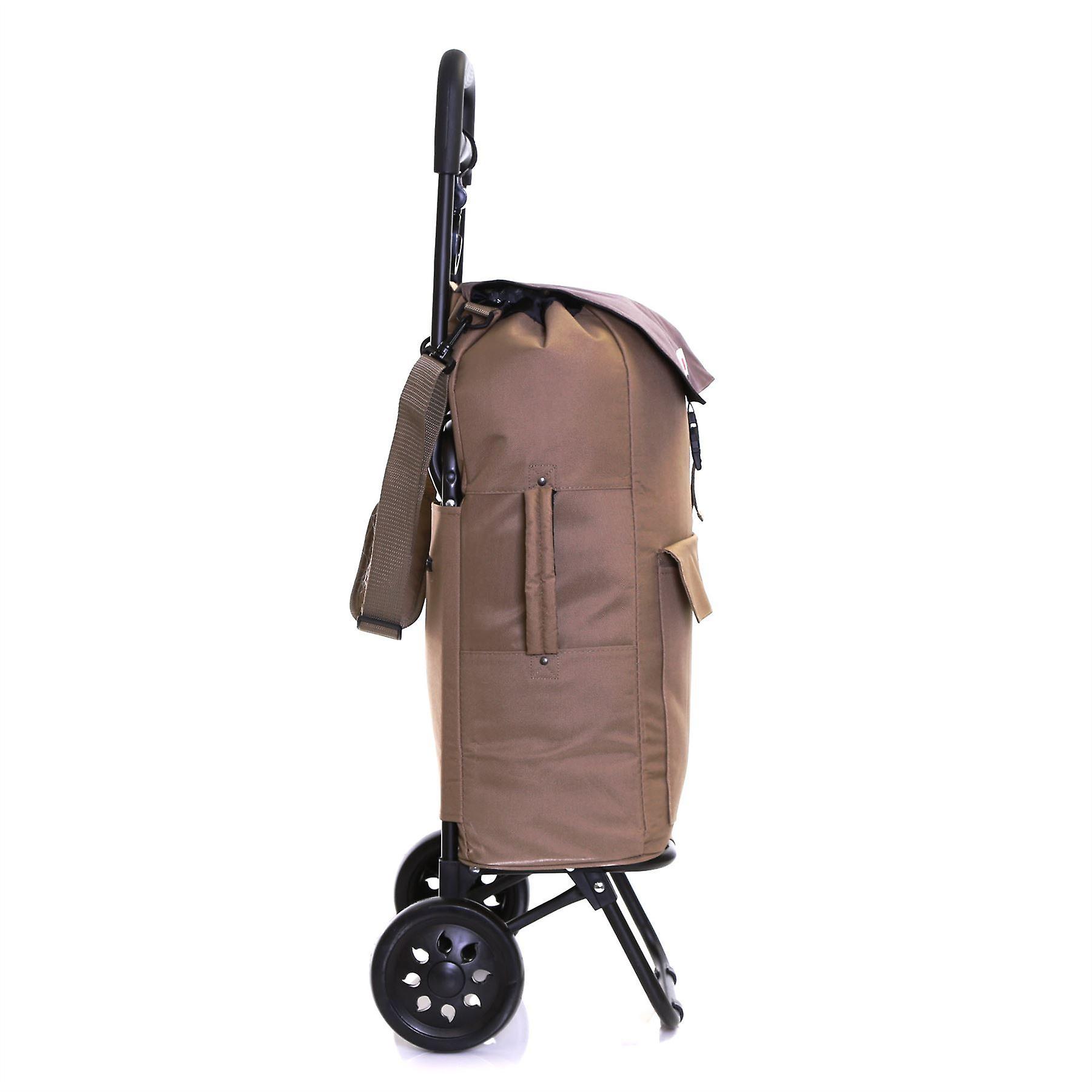 Karabar Halden Insulated Shopping Trolley, Grey