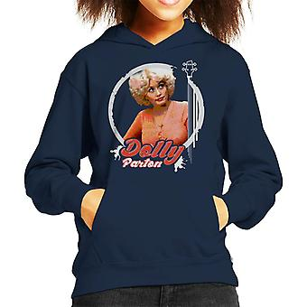 Young Dolly Parton Retro Kid's Hooded Sweatshirt