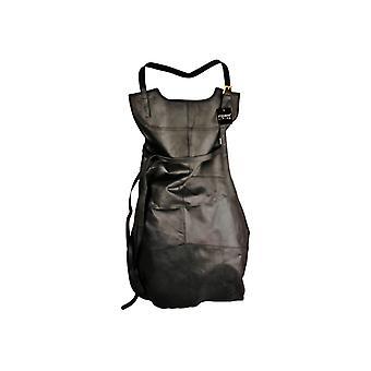 Leather apron genuine leather black