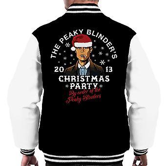 Peaky Blinders Christmas Party Men's Varsity Jacket