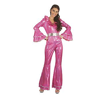 Disco-Overall rosa weiblich